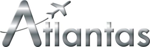 Atlantas : Logo Argent Flat
